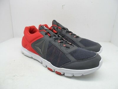 Reebok Men's Yourflex Train 9.0 Mt Athletic Shoes Grey/Red/White Size 14M