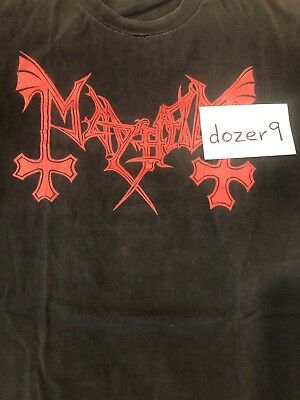 Mayhem Vintage Pure Norwegian Black Metal Shirt Original Emperor DarkThrone