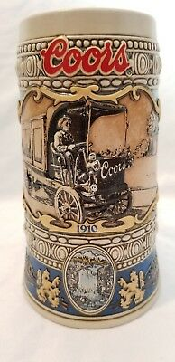 Vintage Beer Stien, Coors 1910 Beer Truck 1989 Edition, Rare and Collectible