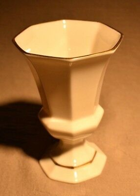 Vintage Lenox China Gold Trimmed Vase with Octagon Top