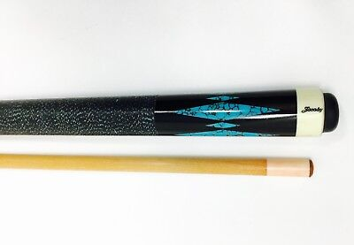 JACOBY TURQUOISE INLAY Pool Cue with Case