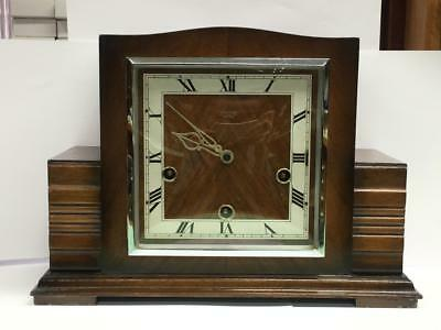 1/4 Chime Mantel Clock By Smiths Enfield Circa 1930