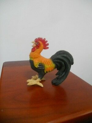 Miniature Vintage Resin Rooster Figurine