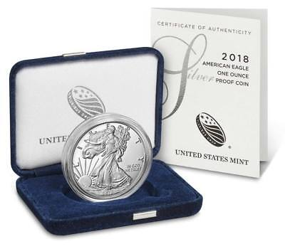 2018 W American Eagle One Ounce Silver Proof Dollar Coin