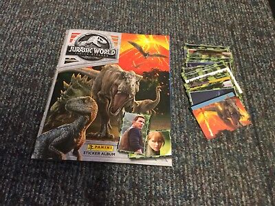 PANINI JURASSIC WORLD FALLEN KINGDOM ALBUM With Stickers