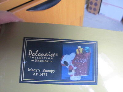Snoopy Polonaise Macy's Snoopy carrying bag  BOX ONLY