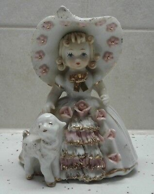 Lefton Mary Had A Little Lamb 1950 Story Book Figurine