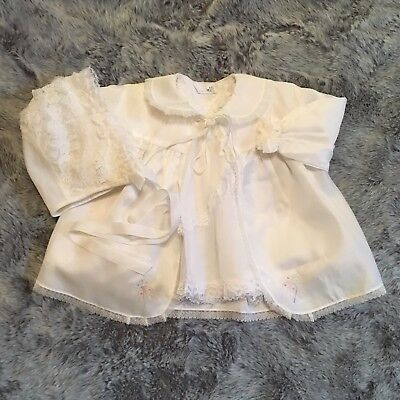 Girls 0-3 Months Vintage Dress Jacket Bonnet Bundle