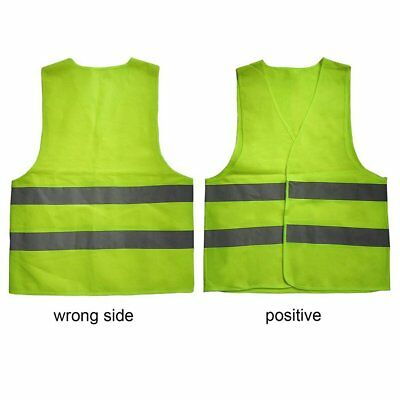 High Safety Visibility Reflective Vest Warning Waistcoat Stripes Jacket Tops AA