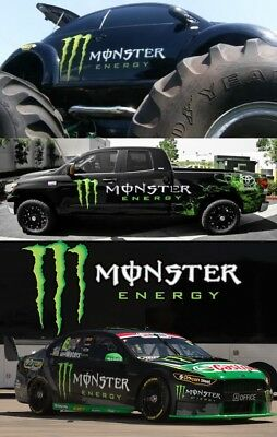 LARGE SET Monster Energy Drink Sponsors Car Auto Big Sticker Decals Car Auto