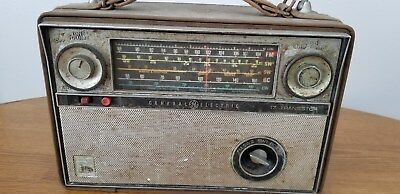 Vintage General Electric Am Fm Shortwave Radio International Foreign Amateur Old