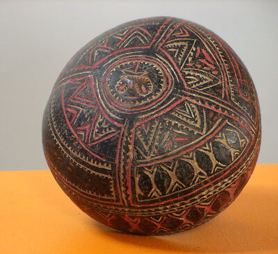 Sale Museum Quality PNG Carved Coconut pre -1950's $299