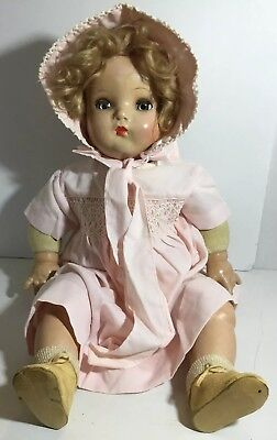 Vintage Madame Alexander Cloth and Composition Baby Doll...Little Genius