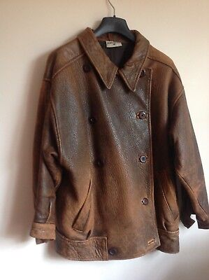 Mary Quant  Vintage 80's style Leather Jacket Ladies UK 12 pre owned