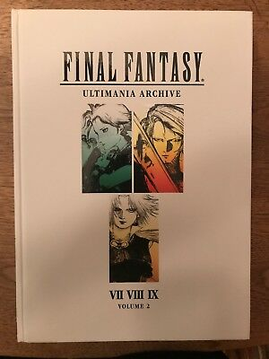 Final Fantasy Ultimania Archive Vol.2 (Art Book) Signed With Drawing By Amano