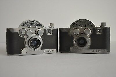 (TWO) Vintage MERCURY ll, HALF FRAME CAMERAS, 35MM F 2.7 lens, COLLECTIBLE!!!