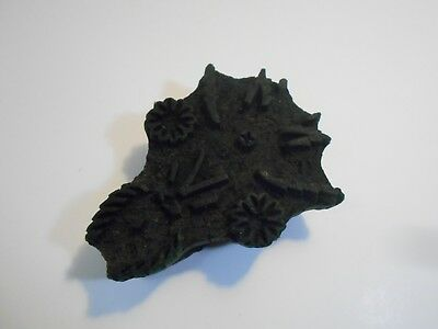 Vintage Old Hand Carved Wooden Textiles Printing  Block  Stamp Collectible