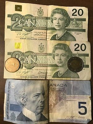 Lot of Canada Canadian Circulated Money