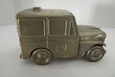 Vintage USPS 1974 Jeep Mail Delivery Truck Banthrico Coin Bank