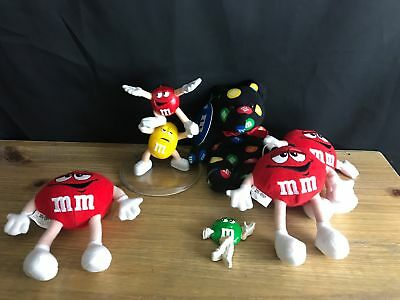 LOT of 6 NWT M&M's COLLECTIBLE PLUSH, FRIDGE MAGNET, FIGURINE STAND BEANBAG BEAR