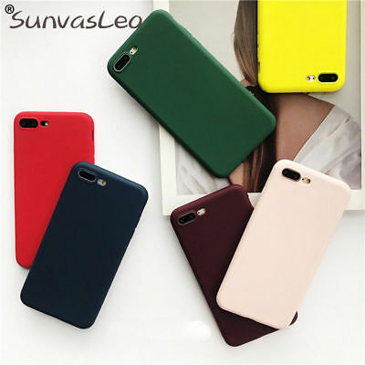 Colorful Candy Matte Sillicone Case TPU iPhone  Huawei Soft Case Cover Protector