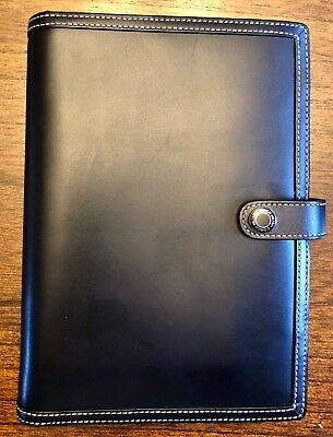 Coach Black Leather Planner - 6x8 MTIFNCTN SLP JKT