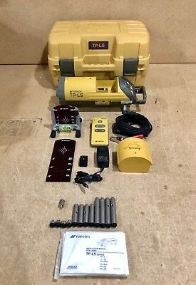 2017 Topcon TP-L5B Red Beam LED Plumb Alignment Pipe Laser