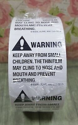 Roll of  500 Suffocation Warning Labels Stickers FBA Aprroved 2x2