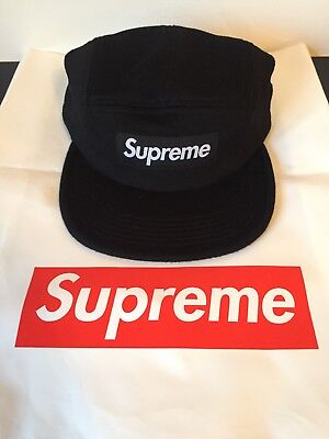 SUPREME BOX LOGO contrast ripstop camp cap black ss18 BNIB with ... c06181fec323