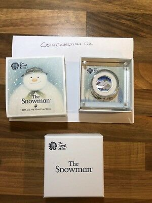 2018 Snowman 50p Silver Proof Christmas Coloured coin Royal Mint limited edition
