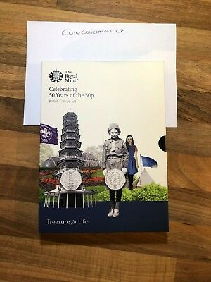 Celebrating 50 Years Of The 50p 2019 UK Proof Kew Gardens Set *SOLD OUT* IN HAND