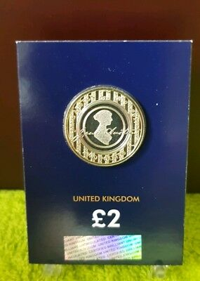 2017 Jane Austen  £2 Two Pound Coin  BUNC VERY RARE