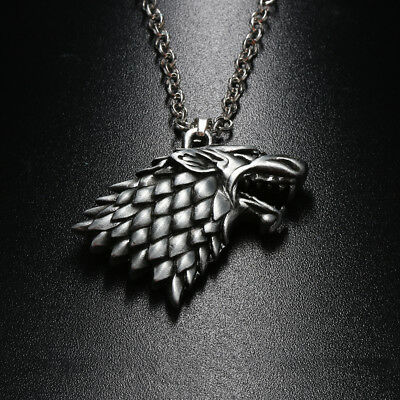 Game of Thrones House Stark Wolf Pendant Necklace Winter is Coming