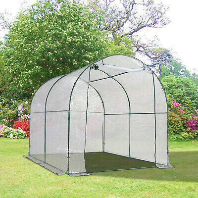 Outsunny 8ft Transparent Dome Walk-in Greenhouse Dome Tunnel Greenhouse