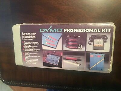 vintage DYMO deluxe interchangeable /embossing tapewriter kit  #1570 w / case