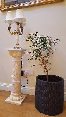 Cosy pair of Ornate Brass & Marble Candelabra lamps - Rare Antique Item