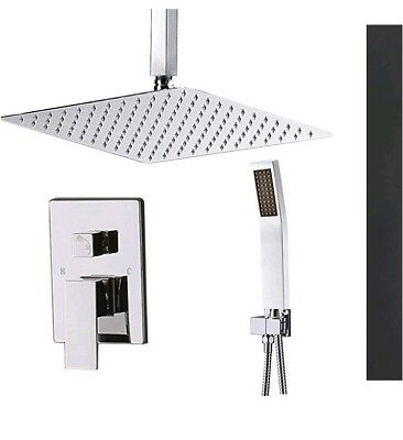 """STARBATH SS01FC Ceiling Mount Shower System with 12"""" Rain Shower and Handheld,"""
