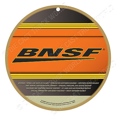 BNSF Railway Logo Wood Plaque-Sign / Man Cave / Train & Kids Room