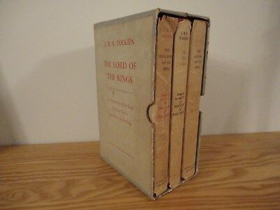 Tolkein - Lord of The Rings -  3 Vol Hardback Box Set, 1960/61 1st Ed with maps