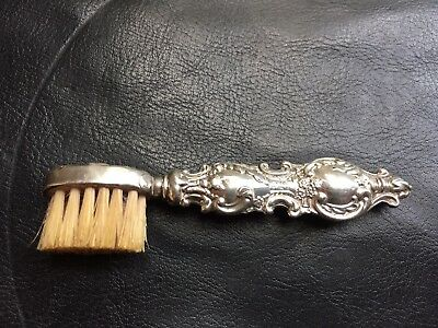 Silver Edwardian Moustache Brush