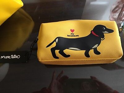 MARC TETRO Cosmetic Bag NWT DACHSHUND Weiner Dog Doxie Ships FREE USPS Priority