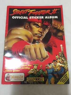 Street Fighter Ii Sticker Album 1992 - With Poster - 211/240 Stickers Completed