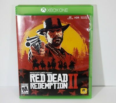 Red Dead Redemption Ii Xbox One Video Game 2 Dics & Map 23557-1
