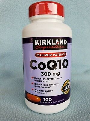 Kirkland Signature CoQ10 300 mg 100 Softgels, New, Sealed, Exp. 08/2020