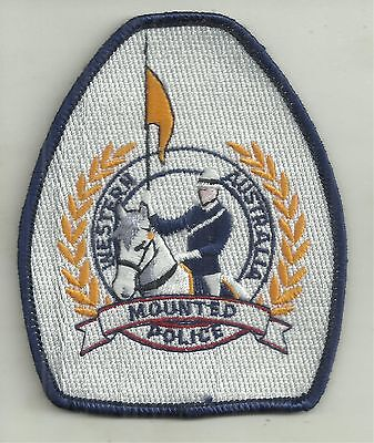 OBSOLETE WESTERN AUSTRALIA MOUNTED POLICE PATCH not BADGE