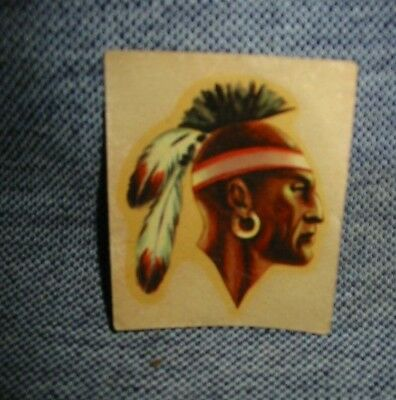Vintage Kelloggs Cereal Iroquois Brave Decal Indian Sticker