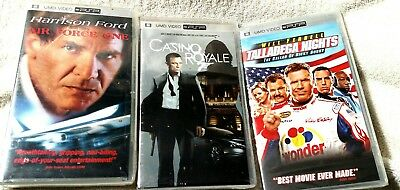 PSP Movies Lot (Air Force One-Casino Royale-Talladega Nights) NEW 30 Day Returns