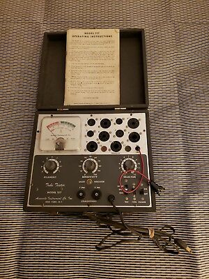 Vintage Accurate Instruments Model 157 Tube Tester in Case & Manual