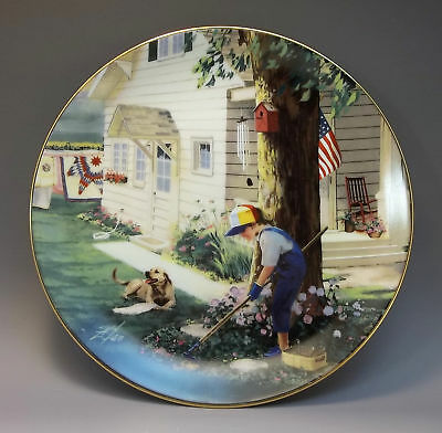Danbury Mint Country Companions Zolan Collector Plate Tender Loving Care