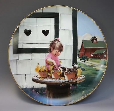 Danbury Mint Country Companions Zolan Collector Plate Planting Daydreams